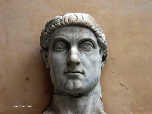 Photos of Rome: Head of Emperor Constantine, Capitoline Museums