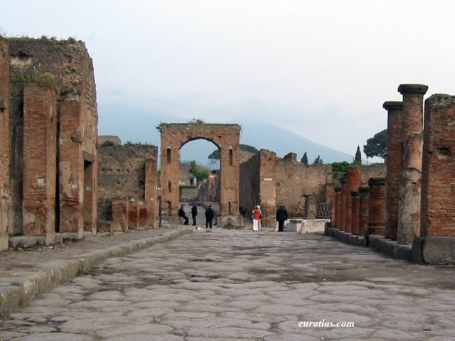 the forum pompeii Pompeii forum was the main civic, commercial and religious center and is a must  see when visiting pompeii ruins.