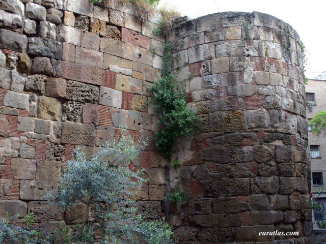 Photos of Spain: Barcelona, the Roman Walls