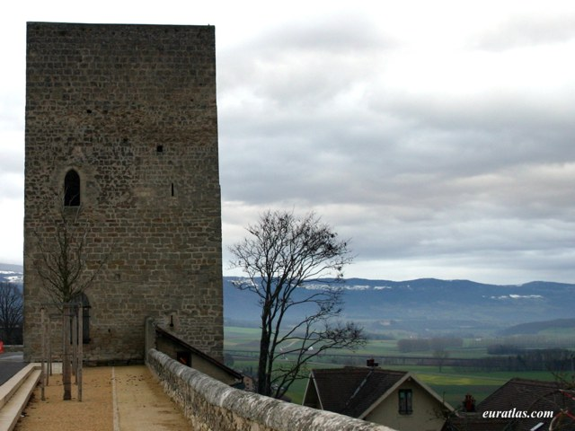 Orbe Switzerland  city photos : Photo of Orbe, a Tower of the Castle