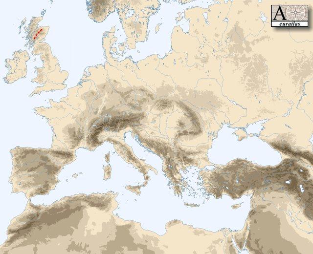 Physical Atlas of Europe: Mountains of Europe - Grampian ...
