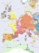 Carte détaillée de l'Europe en 1200