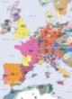Carte détaillée de l'Europe en 1300