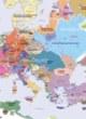 Carte détaillée de l'Europe en 1400