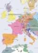 Carte détaillée de l'Europe en 1700