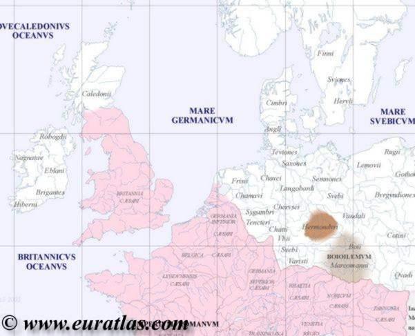 Northwestern Europe Map in year 100 – Europe Atlas Map